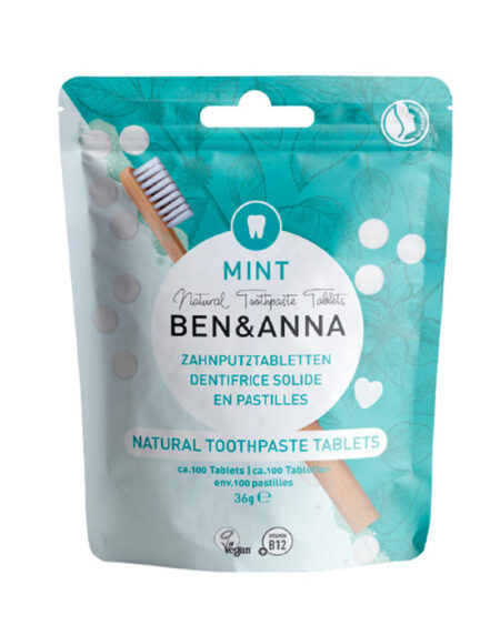 Natural Toothpaste Tablets, Dentifricio in pastiglie alla menta