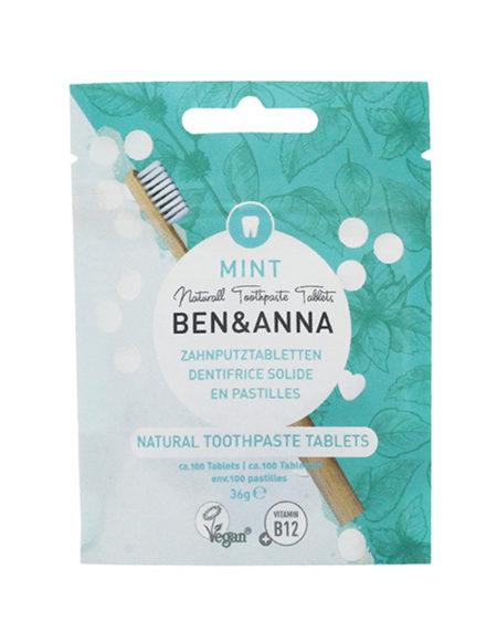 Dentifricio in pastiglie senza fluoro Ben & Anna