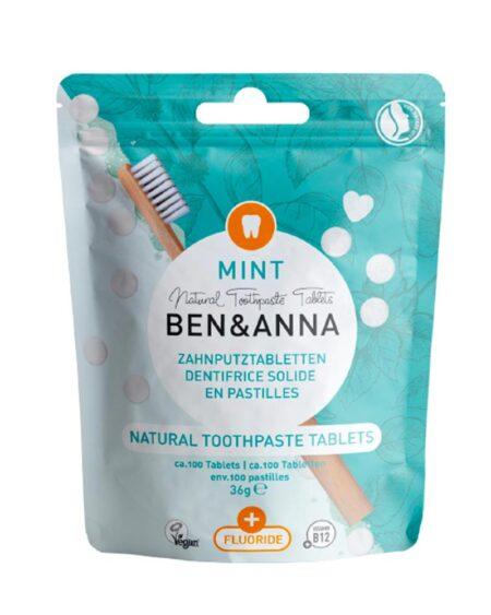 Natural Toothpaste Fluoride, Dentifricio in pastiglie con fluoro