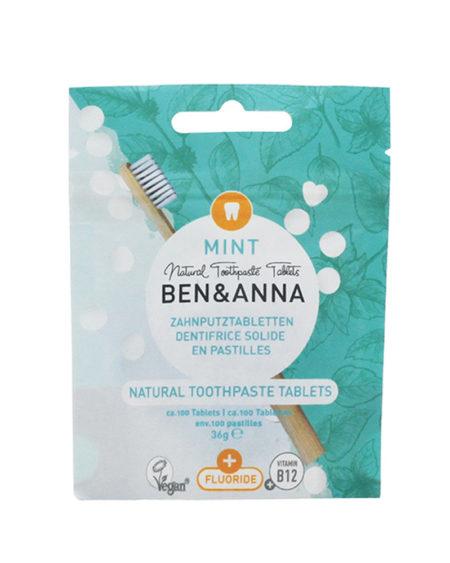 Dentifricio in pastiglie con fluoro Ben & Anna